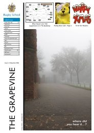 The Grapevine: Issue Six | PDF - Rugby School