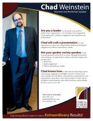 Chad Weinstein - Ethical Leaders in Action