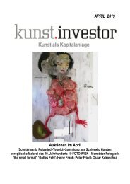 KUNSTINVESTOR AUSGABE APRIL 2019