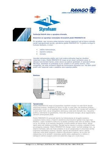 Styrofoam - izolacija kletnih sten z vgrajeno drenažo - Ravago