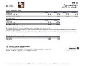 CENIK Trespa Athlon plošč za interier - Ravago