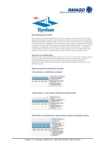 Styrofoam - obnavljanje ravne strehe - Ravago