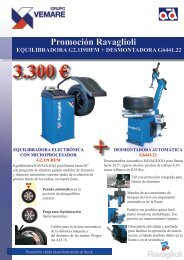 Promoción Ravaglioli EQUILIBRADORA G2 ... - Grupo Vemare