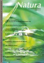 Natura | Welt der Gesundheit - Ausgabe 5