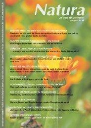 Natura | Welt der Gesundheit - Ausgabe 7