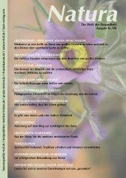 Natura | Welt der Gesundheit - Ausgabe 8