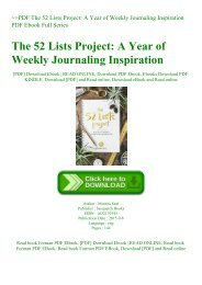 ~PDF The 52 Lists Project A Year of Weekly Journaling Inspiration PDF Ebook Full Series
