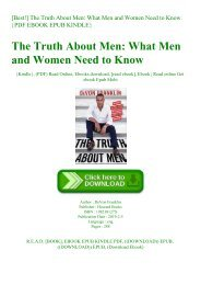 [Best!] The Truth About Men What Men and Women Need to Know {PDF EBOOK EPUB KINDLE}