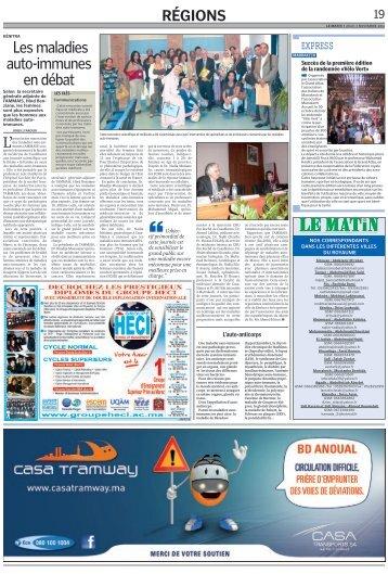 Revue de presse de la première journée de l'Auto-immunité - Novembre 2011- AMMAIS Archives