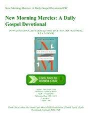 ^R.E.A.D.^ New Morning Mercies A Daily Gospel Devotional Pdf