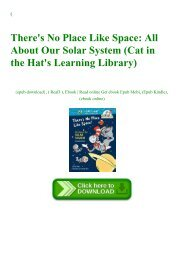 (DOWNLOADPDF} There's No Place Like Space All About Our Solar System (Cat in the Hat's Learning Library) Free Download