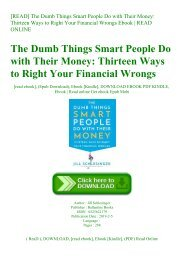 [READ] The Dumb Things Smart People Do with Their Money Thirteen Ways to Right Your Financial Wrongs Ebook  READ ONLINE