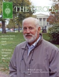 Six Circles Receive Maurice A. Clay Grants page - Omicron Delta ...