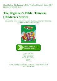 {Read Online} The Beginner's Bible Timeless Children's Stories [PDF EBOOK EPUB KINDLE]