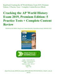 Read book Cracking the AP World History Exam 2019  Premium Edition 5 Practice Tests + Complete Content Review EBook