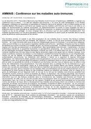 Revue de presse 1ère journé Auto-immunité:   Pharma Ma  2011- AMMAIS Archives