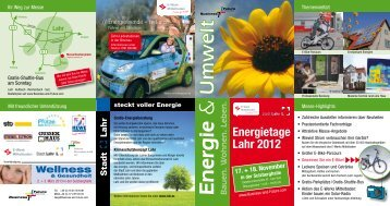 Energietage Lahr 2012 - E-Werk Mittelbaden AG