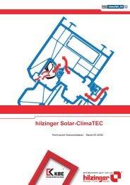 Technische Information zur Lüftung Solar-ClimaTEC - Hilzinger