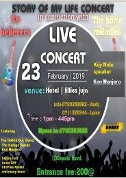 story of my life concert - PROGRAM