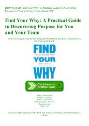 DOWNLOAD Find Your Why A Practical Guide to Discovering Purpose for You and Your Team eBook PDF