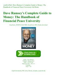 {mobiePub} Dave Ramsey's Complete Guide to Money The Handbook of Financial Peace University Full Book