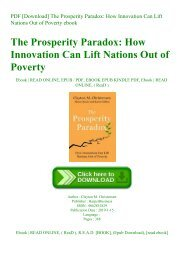 PDF [Download] The Prosperity Paradox How Innovation Can Lift Nations Out of Poverty ebook
