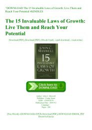 ^DOWNLOAD [PDF] The 15 Invaluable Laws of Growth Live Them and Reach Your Potential #KINDLE$
