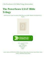 ^DOWNLOAD-PDF) The PowerScore LSAT Bible Trilogy (ebook online)