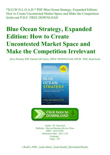blue ocean strategy ebook free download