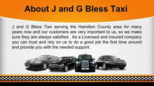 Avail Limo Service Hamilton NJ   J and G Bless Taxi