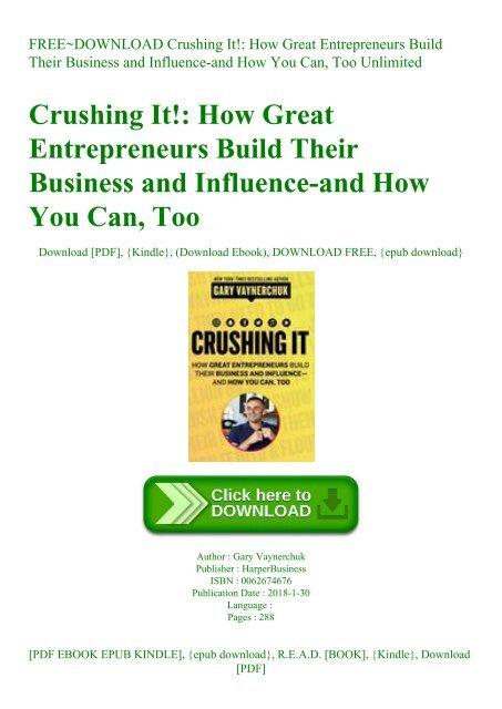 crushing it gary vaynerchuk pdf free download