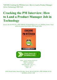 EPUB$ Cracking the PM Interview How to Land a Product Manager Job in Technology PDF Full