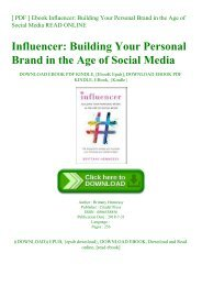 [ PDF ] Ebook Influencer Building Your Personal Brand in the Age of Social Media READ ONLINE