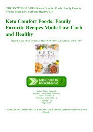[PDF] DOWNLOAD READ Keto Comfort Foods Family Favorite Recipes Made Low-Carb and Healthy ZIP