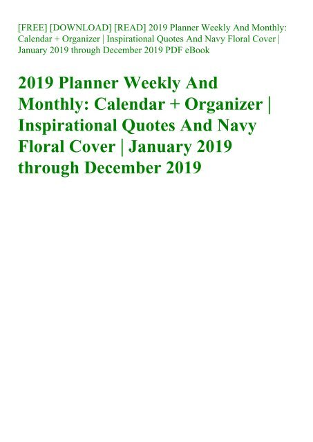 planner weekly and monthly calendar