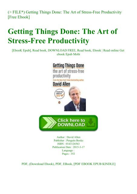 getting things done free pdf download