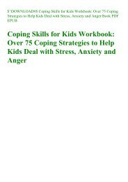 $^DOWNLOAD#$ Coping Skills for Kids Workbook Over 75 Coping Strategies to Help Kids Deal with Stress  Anxiety and Anger Book PDF EPUB