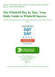 {Kindle} The Whole30 Day by Day Your Daily Guide to Whole30 Success ^READ PDF EBOOK#