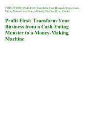 Profit first michalowicz free pdf download