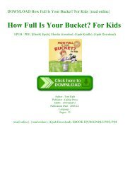 DOWNLOAD How Full Is Your Bucket For Kids {read online}