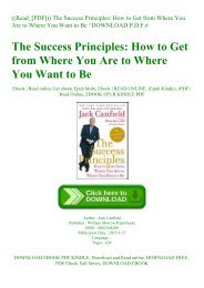 ((Read_[PDF])) The Success Principles How to Get from Where You Are to Where You Want to Be ^DOWNLOAD P.D.F.#