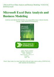 ^READ) Microsoft Excel Data Analysis and Business Modeling ^E.B.O.O.K. DOWNLOAD#
