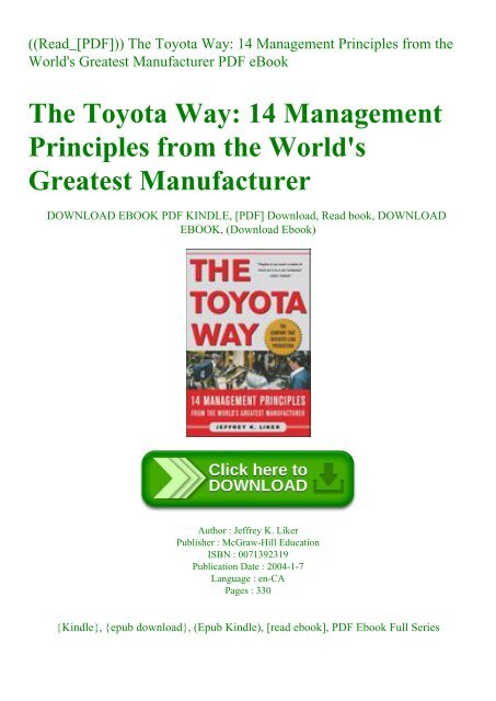 The toyota way 14 management principles pdf download full