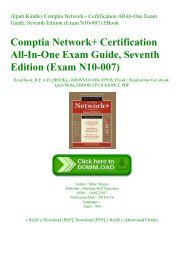 (Epub Kindle) Comptia Network+ Certification All-In-One Exam Guide  Seventh Edition (Exam N10-007) EBook