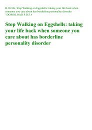 PDF] Download Stop Walking on Eggshells: Taking Your Life Back When