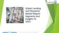 Global Lending And Payments Market Report Segments And Insights To 2022