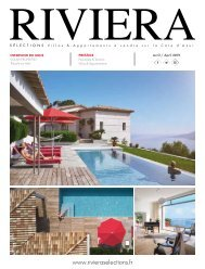Riviera Sélections - Avril 2019