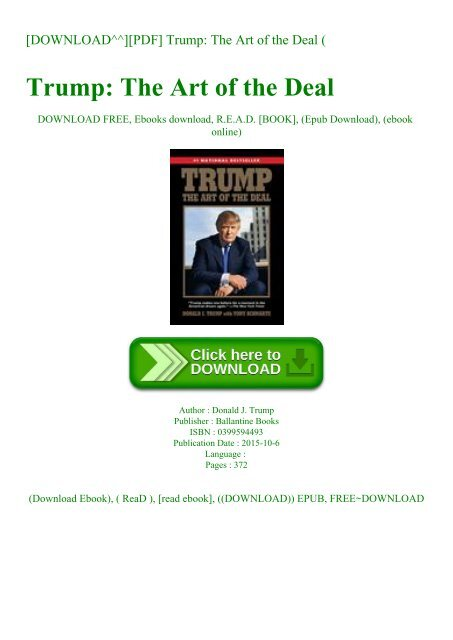 trump the art of the deal free download