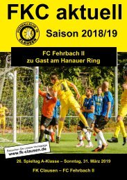 FKC Aktuell - 26. Spieltag - Saison 2018/2019