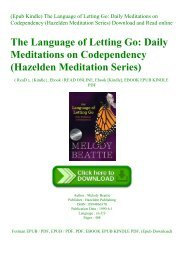 (Epub Kindle) The Language of Letting Go Daily Meditations on Codependency (Hazelden Meditation Series) Download and Read online